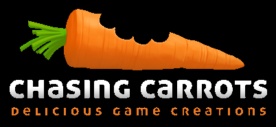 logo chasing carrots black